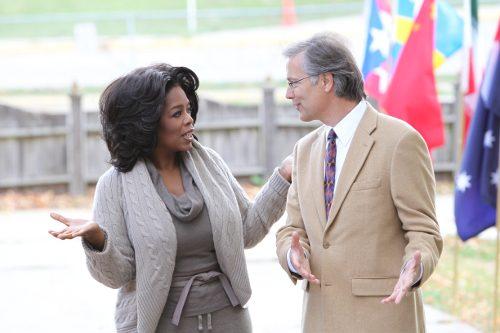 Dr. Beall and Oprah meet at Maharishi School