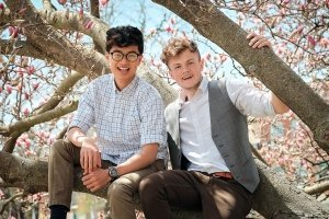 alumni devan and daniel in tree