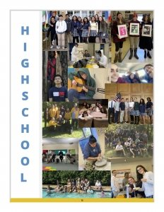 high school yearbook collage made by the students
