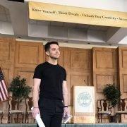 Eli Lieb in Maharishi School Auditorium