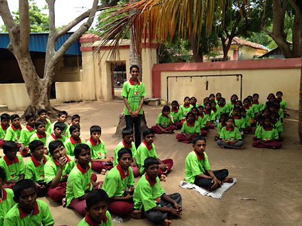 Maharishi School volunteer in India