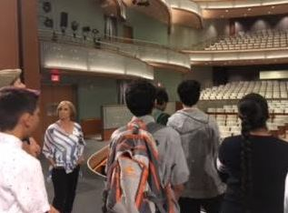 Boarding and day students from Maharishi School got to tour Hancher Auditorium in Iowa City and see the backstage area, as well!