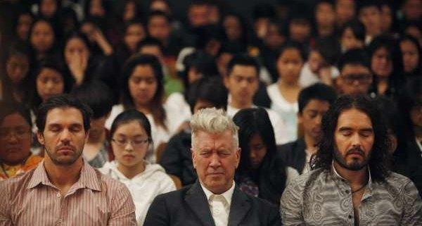 celebrities meditating David Lynch Russell Brand practice transcendental meditation