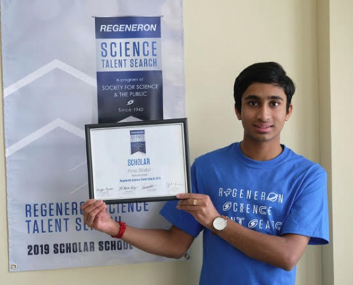 Regeneron Science Talent Search scholar