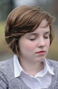 A Maharishi School student practices Transcendental Meditation in Fairfield, Iowa. Photo credit Fotoveda.