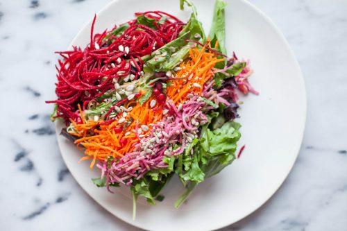 Maharishi School salad bar