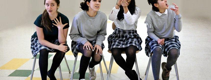 girl teenagers at maharishi school